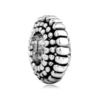 European Beads - bump spacer wheel silver plated beads charms bracelets Image.