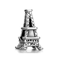 European Beads - paris eiffel tower fit all brands silver plated beads charms bracelets Image.