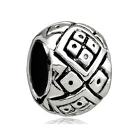 European Beads - small square fit all brands silver plated beads charms bracelets Image.