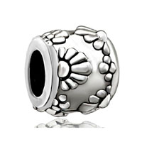 European Beads - sun flower fit all brands silver plated beads charms bracelets Image.
