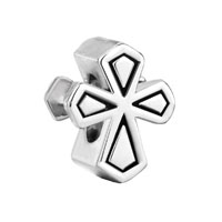 European Beads - cross silver plated beads charms bracelets Image.