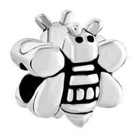 European Beads - lovely bee shape silver plated beads charms bracelets Image.