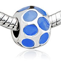 - blue round pattern european beads Image.