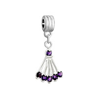 European Beads - february birthstone amethyst sector dangle european beads all brands charms bracelets Image.