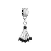 European Beads - black birthstone sector dangle european beads all brands charms bracelets Image.