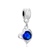 European Beads - september birthstone heart dangle european beads all brands charms bracelets Image.