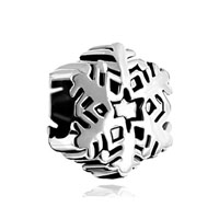 European Beads - snowflake all brands silver plated beads charms bracelets Image.