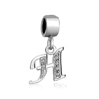 European Beads - letter h dangle european beads all brands charms bracelets Image.
