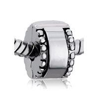 European Beads - silver clip lock stopper all brand beads charms bracelets Image.