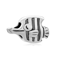 European Beads - jewelry beak fish fit all brands &  silver plated beads charms bracelets Image.