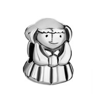 European Beads - cute little girl all brands euro silver plated beads charms bracelets Image.
