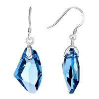 Earrings - galaxy march birthstone crystal drop 925  sterling silver dangle earrings Image.