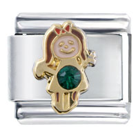  - december birthstone cute girl italian charm Image.