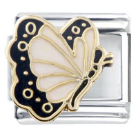 Italian Charms - pearl butterfly italian charm Image.