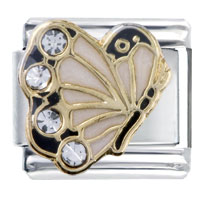 - april birthstone butterfly italian charm Image.