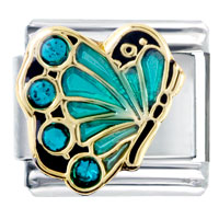  - december birthstone butterfly italian charm Image.