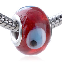 European Beads - evil eye red fit all brands murano glass beads charms bracelets Image.