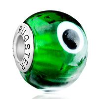 - green with evil eye murano glass Image.