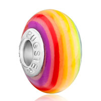  - rainbow round polymer clay Image.