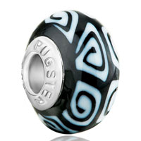 - white and black irregular shape polymer clay Image.
