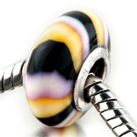 - yellow black white stripes polymer clay Image.