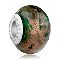 - deep green with pattern gorgeous european beads Image.