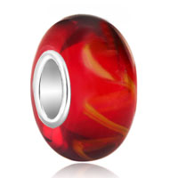 - pure red with vine pattern 925 sterling silver Image.