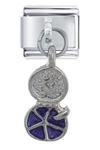 Italian Charms - blue compact dangle italian charm Image.