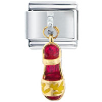 Italian Charms - fancy red sandal dangle italian charm Image.