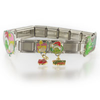 Italian Charms - various grinch christmas licensed italian charm Image.