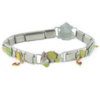 Bracelets - dangling shrek assorted licensed italian charm Image.