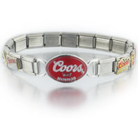 Italian Charms - mixed coors light beer italian charm bracelet licensed italian charm Image.