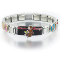 Italian Charms - mixed curious george licensed italian charm Image.