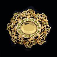 Bridal Party Brooch Pin Pendant Big Austrian Rhinestone Crystal Vintage