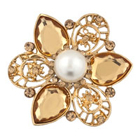 Vinatge Rhinestone Crystal Wedding Bridal Bouquet Flower Pearl Brooch Pin