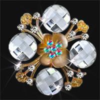 Silver Vintage Crystal Rhinestone Wedding Bridal Bouquet Flower Brooch Pin