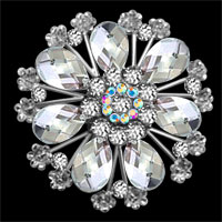 Wedding/ Party Jewelry Women Brooches Pins Flower Austria Rhinestone Brooches