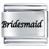 Italian Charms - bridesmaid laser italian charm Image.