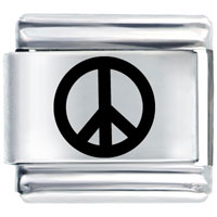 Italian Charms - peace symbol laser italian charm Image.