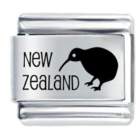 Italian Charms - new zealand bird italian charm Image.