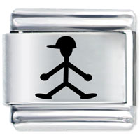 Italian Charms - boy with hat friendship italian charms Image.