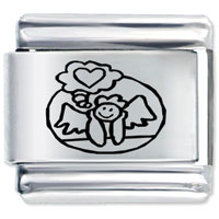 Italian Charms - angel of love laser italian charm Image.