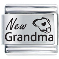 Italian Charms - new grandma laser italian charm Image.
