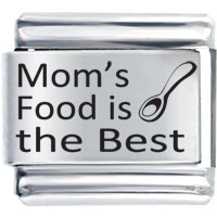 Italian Charms - family mom's food is the best laser italian charm bracelets Image.