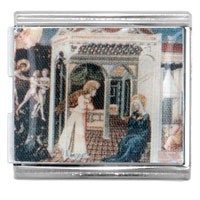 Italian Charms - fra angelico annunciation art mega mega italian charm Image.