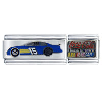 Italian Charms - nascar car #15 superlink sports italian charm Image.