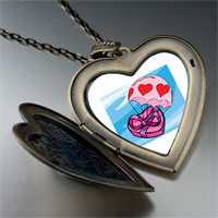 Pugster Flying Hearts Chocolate Photo Large Pendant Necklace at Sears.com