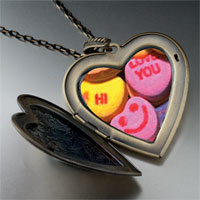Pugster Valentine Heart Halloween Candy Large Pendant Necklace at Sears.com