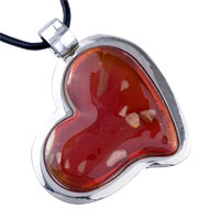 Pugster Red Heart Pendant Murano Glass Necklace at Sears.com