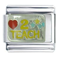 Italian Charms - love to teach italian charm Image.